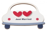 Holz-Deko Just Married 7x10cm