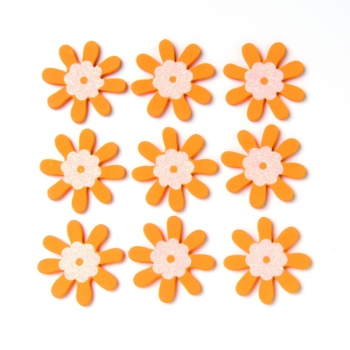 Streuteile Blumen 9St orange