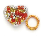 Kinderschmuck Kette orange 6,5cmx6cmx3cm